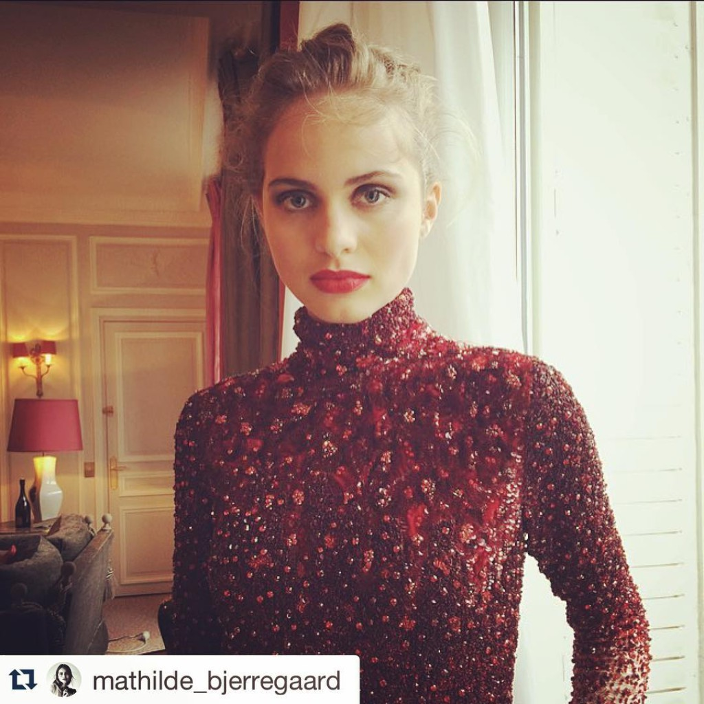 Repost mathildebjerregaard with repostapp  Today working in Paris sandrafourquihellip